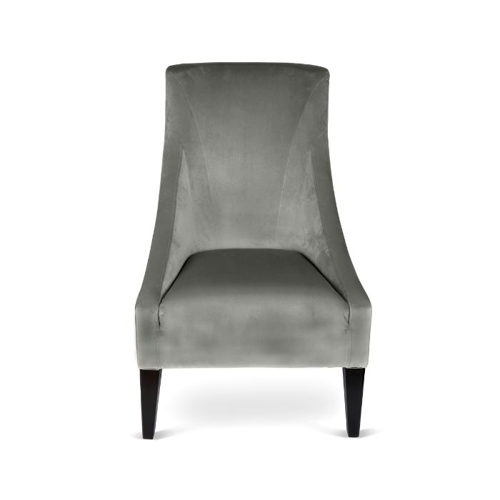 Velvet Chair In Dark Grey