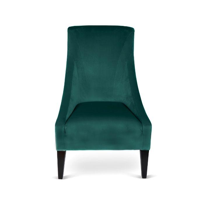 Velvet Chair In Jade Green