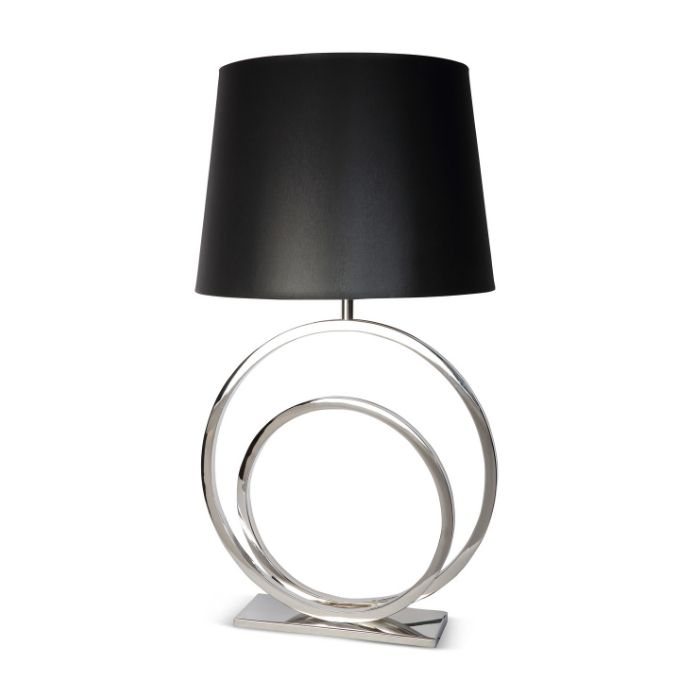 Circle Shaped Table Lamp In Silver Finish