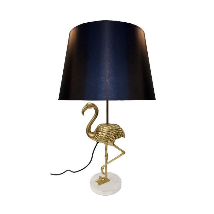 Tuba Table Lamp With Black Shade Sourced By Sue Hunt
