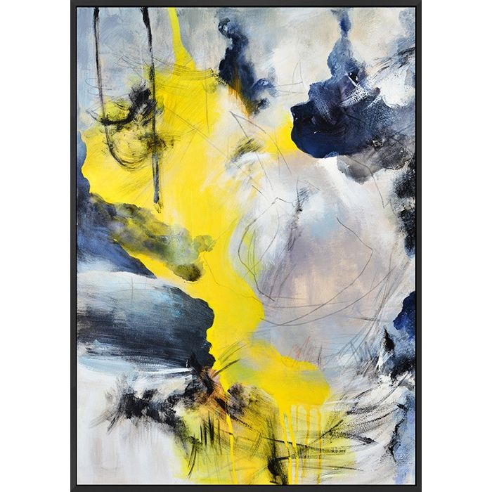 Multi Yellow Abstract Canvas