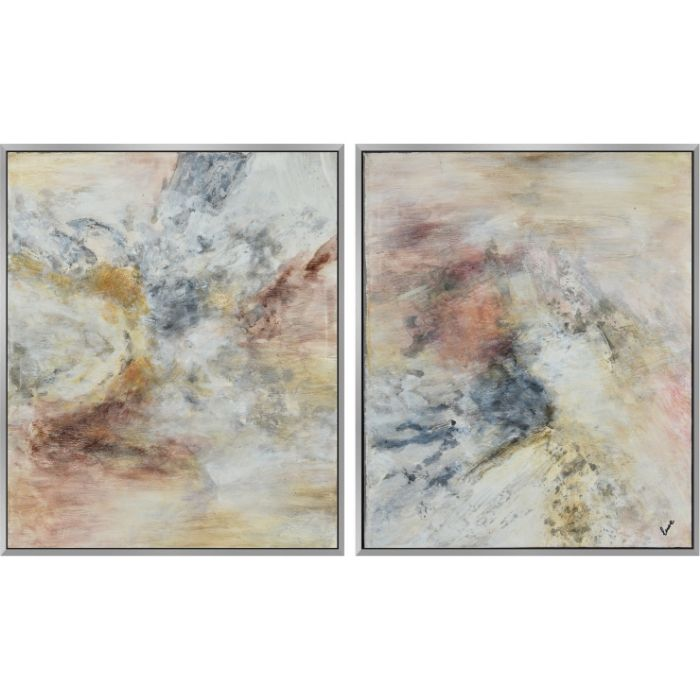 Pastel Abstract Canvas Set