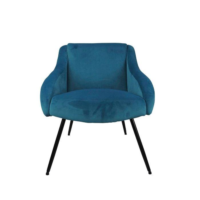 Pop Chair In Blue Velvet