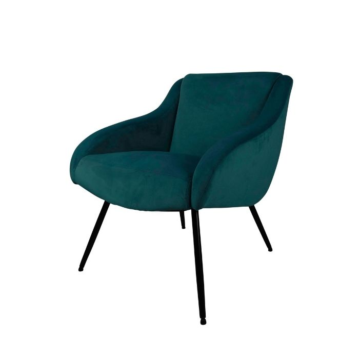 Pop Chair In Sea Green Velvet