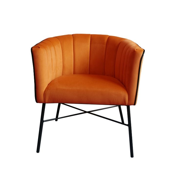 Modern Style Chair In Pumpkin Orange