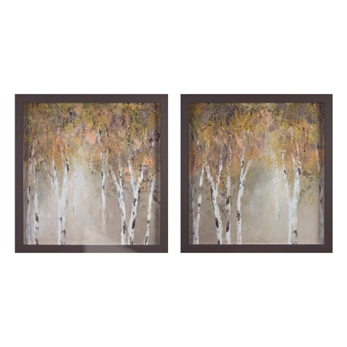 Birch tree pair