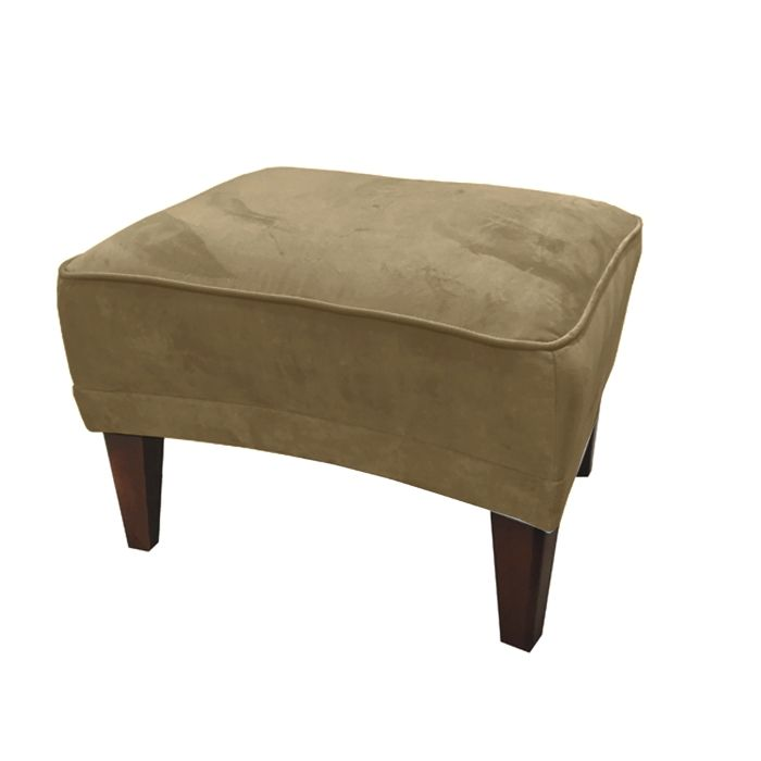 Footstool In Mink Velvet