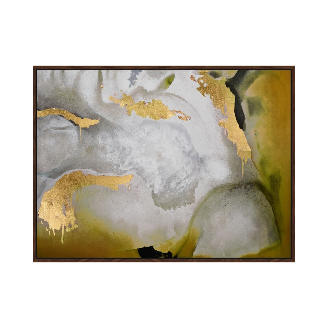 Multi – Gold Abstract Framed Canvas