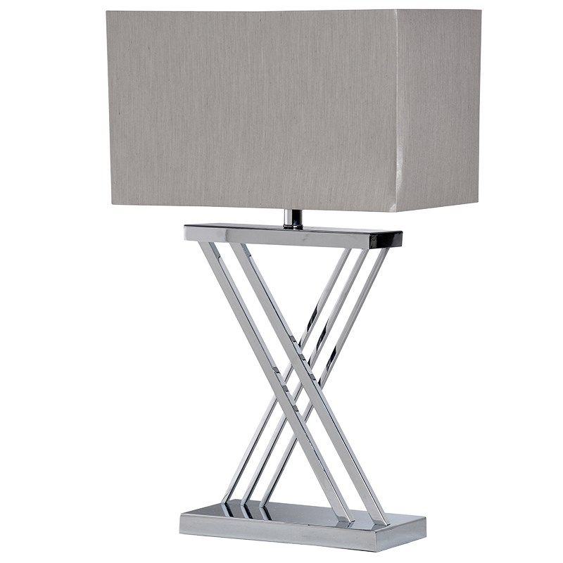 X- Frame Metal Table Lamp