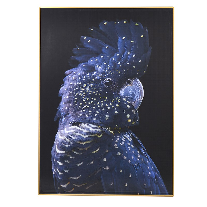 Blue Parrot Framed Canvas