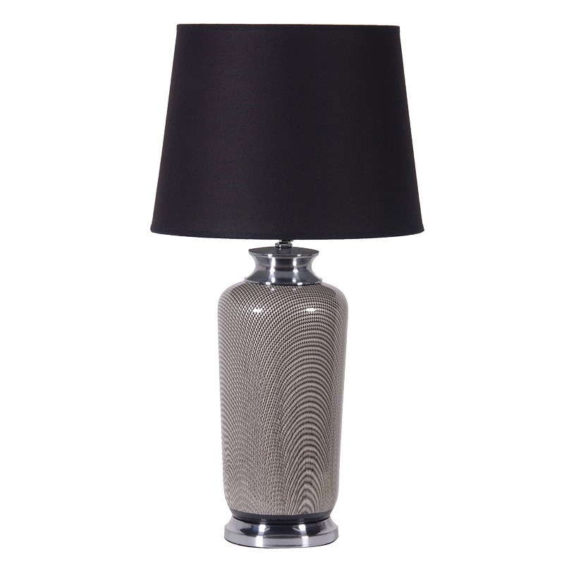 Black Patterned Ceramic Table Lamp