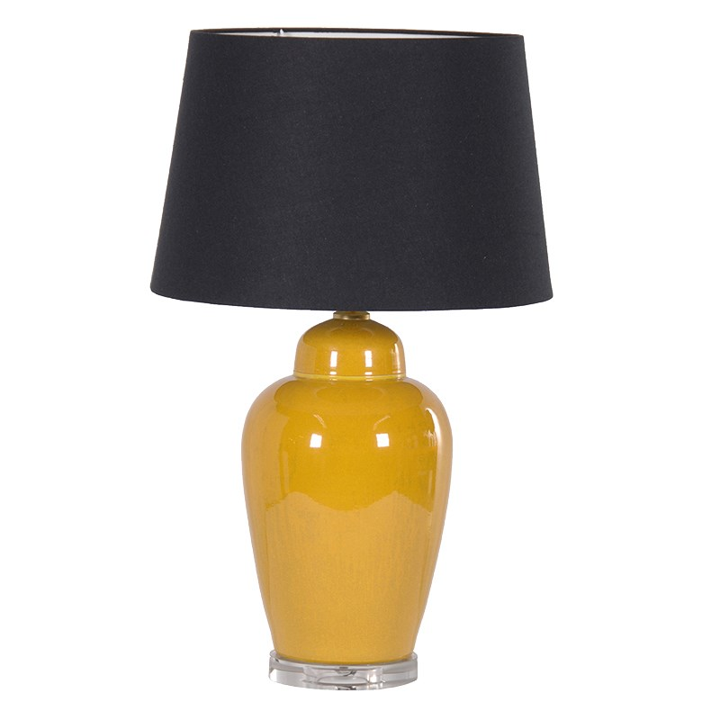 Ceramic Table Lamp In Yellow