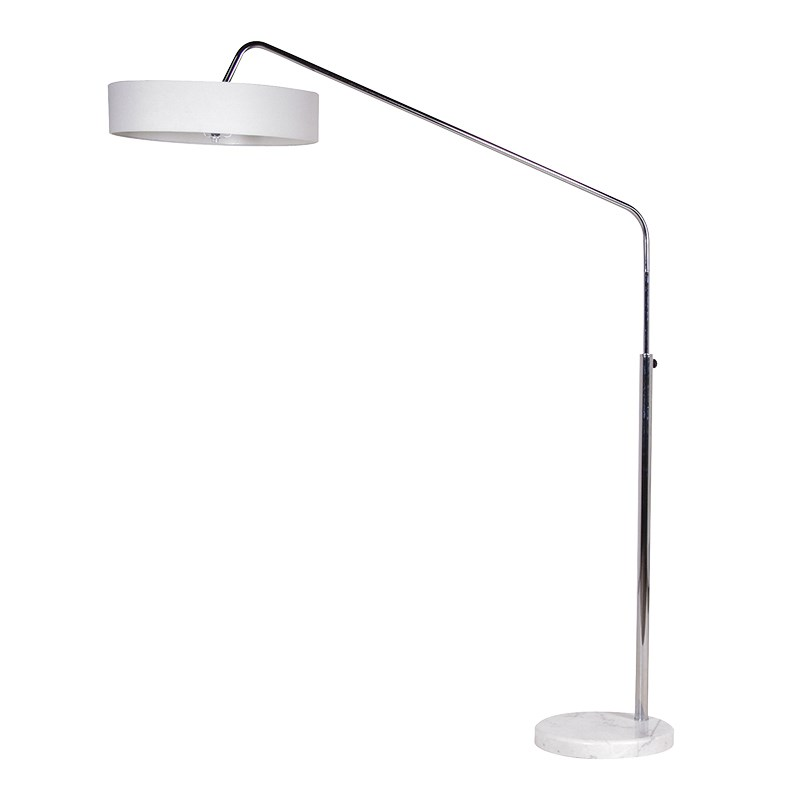 Modern Reading Lamp With White Shade