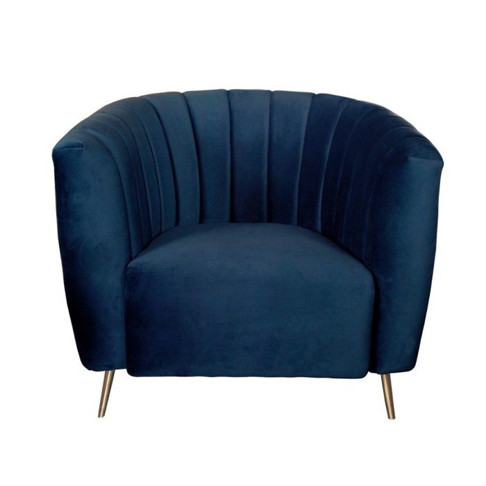 Deco Styled Chair Midnight Blue