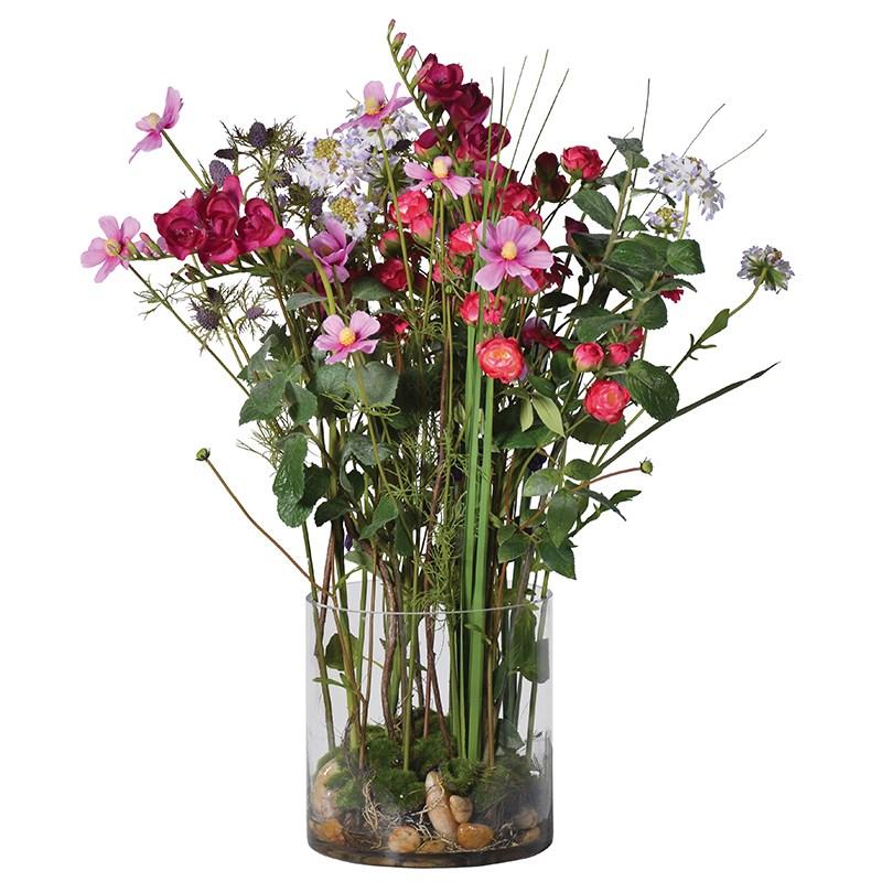 Faux Multi Floral Arrangement