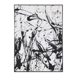 Large Black And White Abstract Wall Art