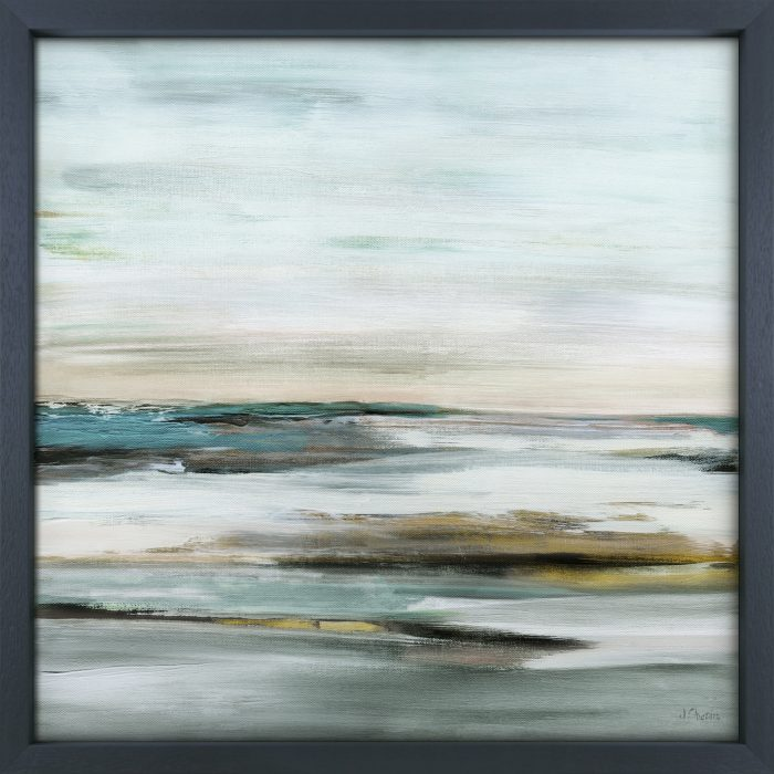 Shades Of Teal Abstract Framed Print Set