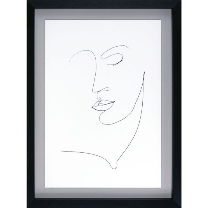 Beautiful Face Line Drawing Set