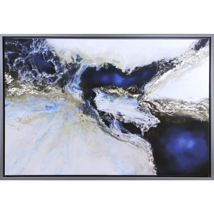 Blue And Silver Abstract Framed Print