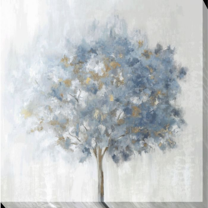 Powder Blue Tree Canvas