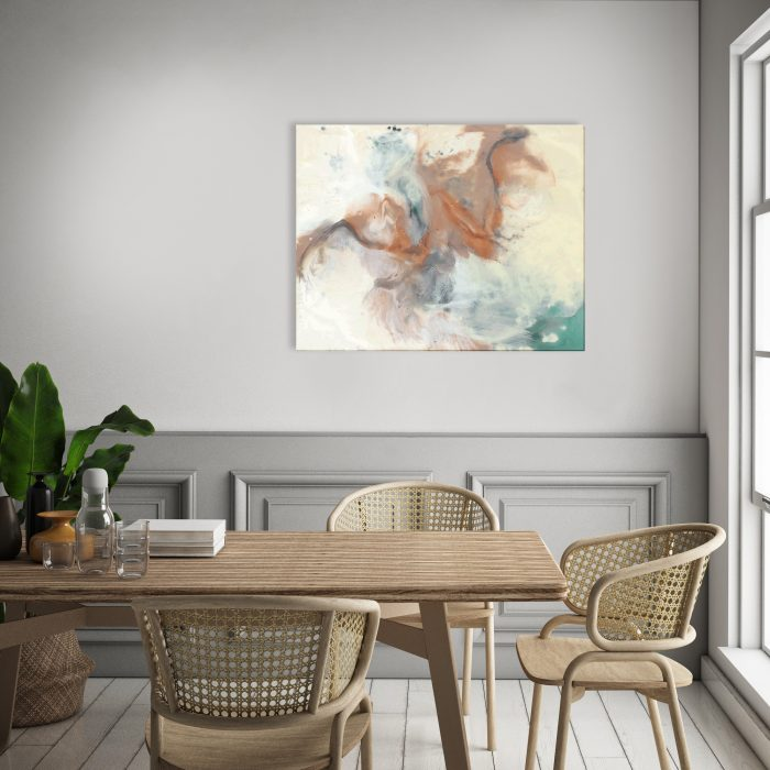 Copper Swirl Abstract Canvas