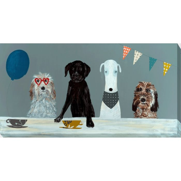 Dogs Dinner Canvas