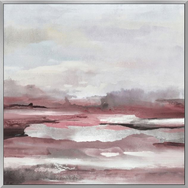 Horizon Blush Abstract Landscape