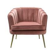 Tub Chair In Rose Pink Velvet