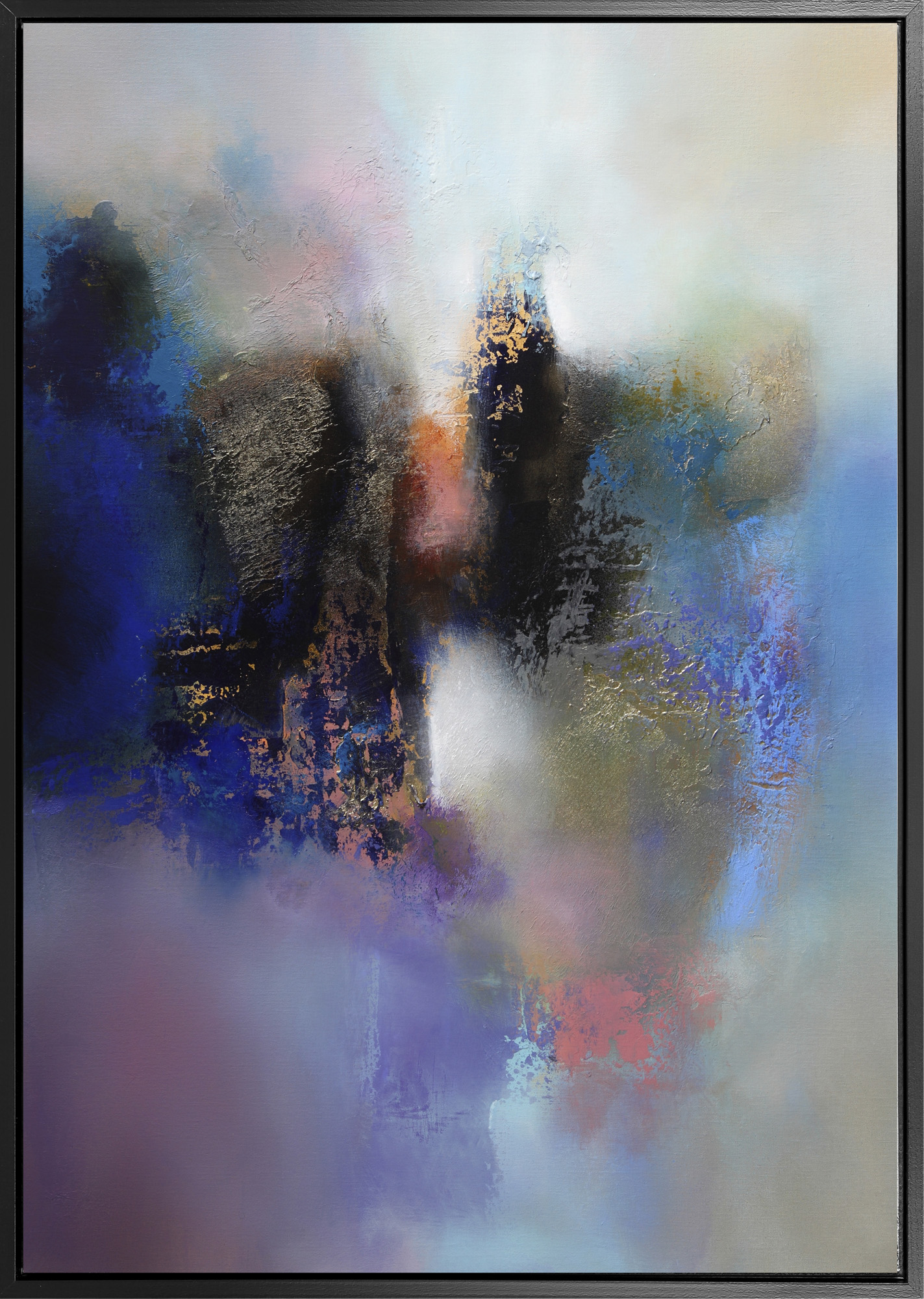 Dreams Of Blue Abstract Framed Canvas Wall Art