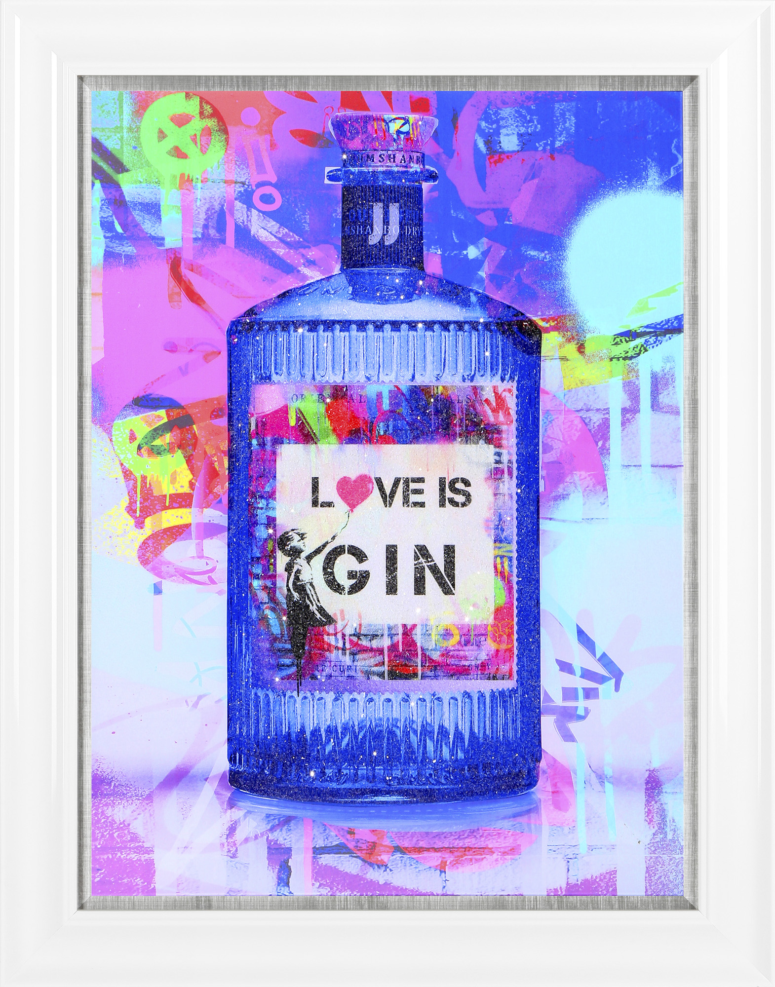 Love Is Gin Framed Canvas