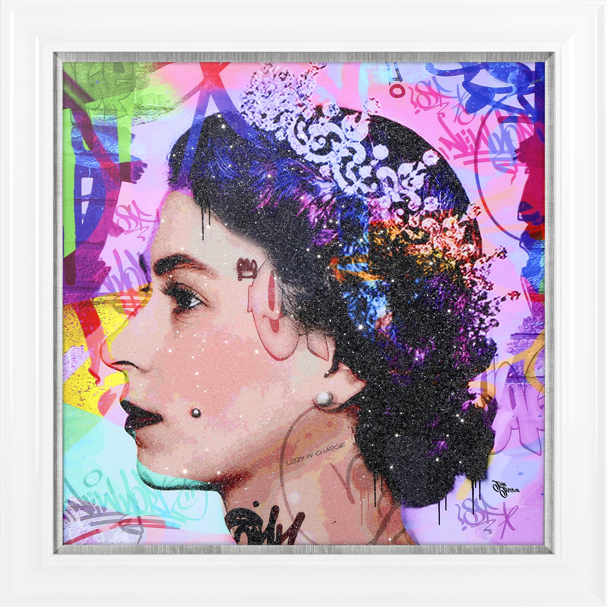 Her Majesty The Queen Multi  Framed Canvas