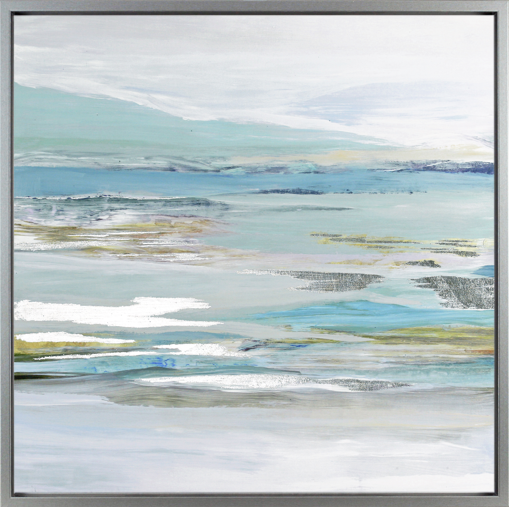 Calm Coastal Framed Canvas One Wall Art