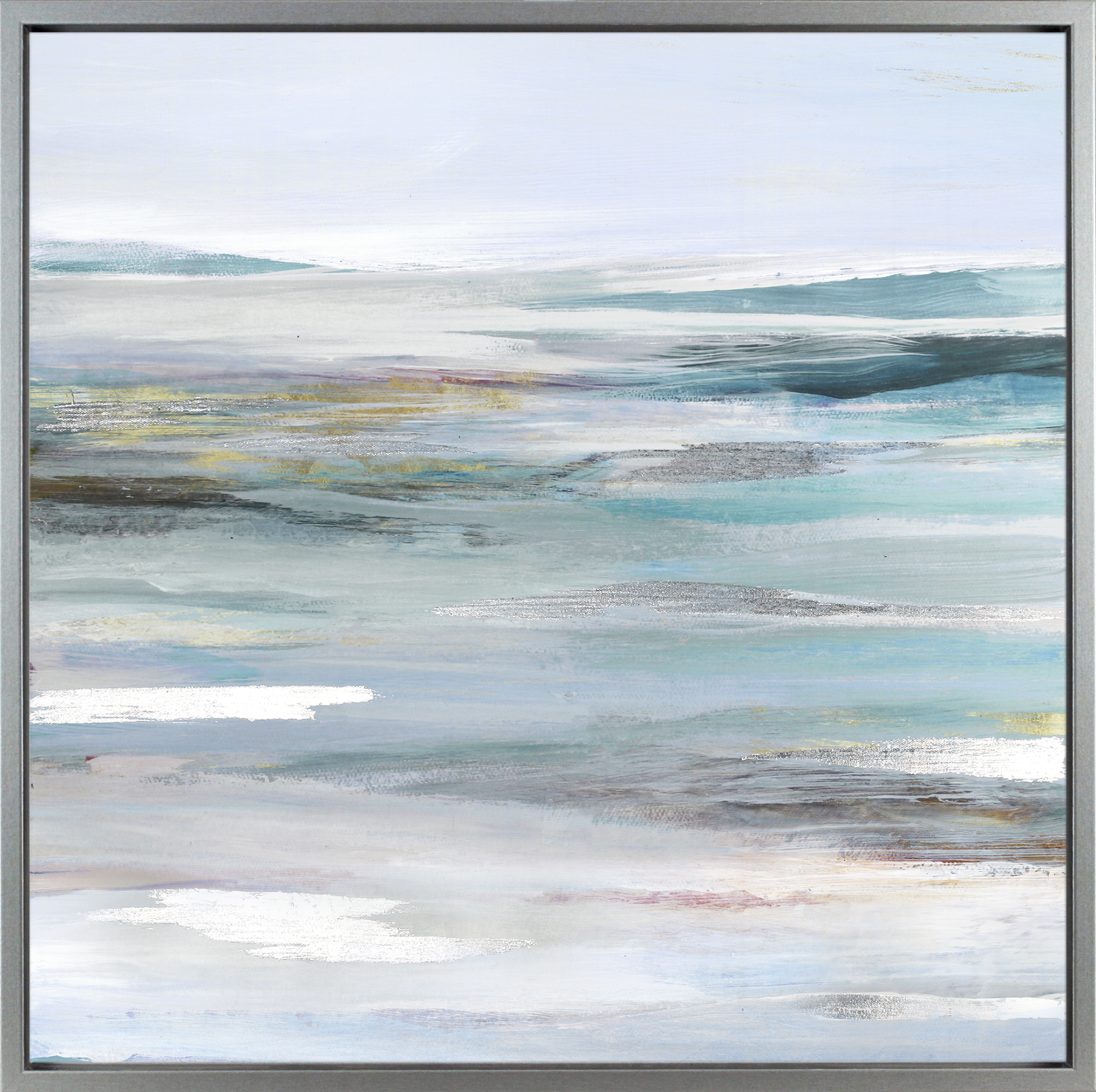 Calm Coastal Framed Canvas Two Wall Art