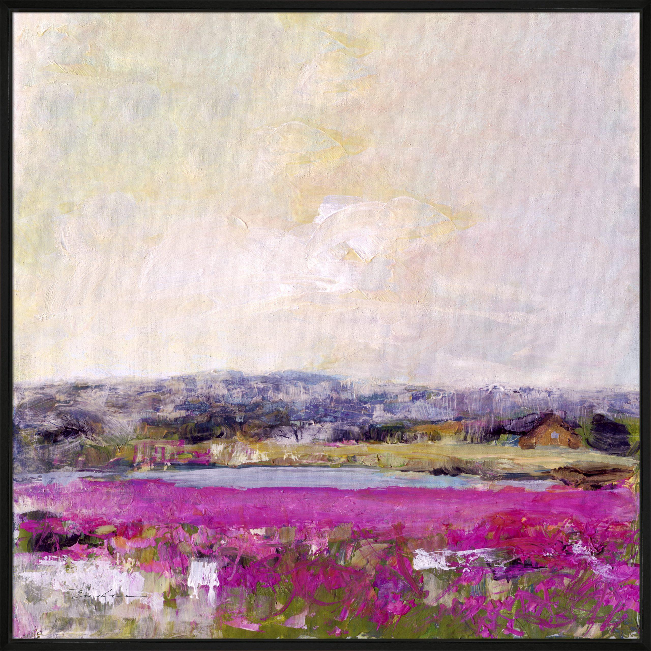 Fields Of Heather Framed Canvas Wall Art